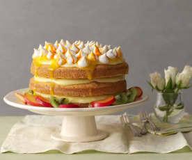 Pomerančový dort s tropickým ovocem