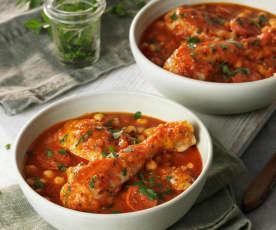 Chicken chorizo and chickpea stew