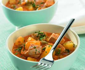 Thunfisch mit Kartoffelragout