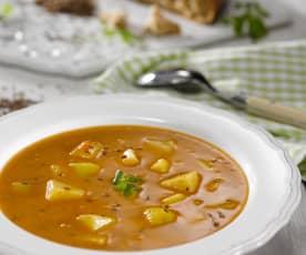 Kmínová polévka s bramborami