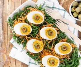 Uova ripiene di prosciutto