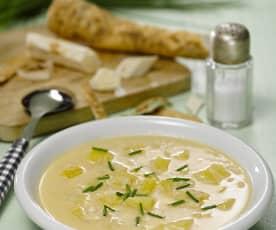 Křenová polévka s bramborami