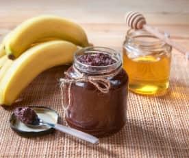 Crema golosa alle banane e miele
