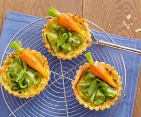 Tartelettes printanières aux légumes