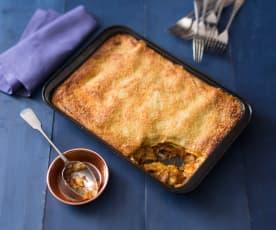 Hearty vegetarian lasagne