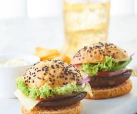 Hamburguesa de portobello