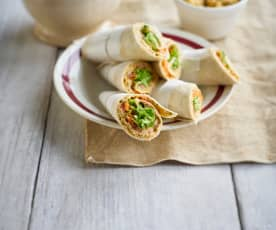 Wraps mit Curry-Huhn