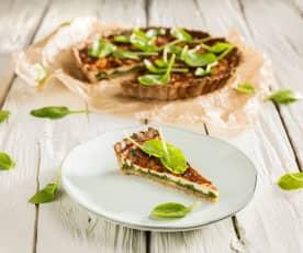 Celozrnný mangoldový quiche
