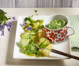 Erdäpfel mit Avocado-Bärlauchcreme