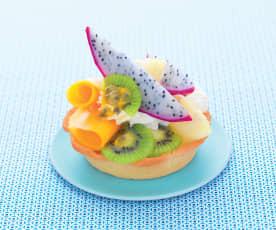 Tartelettes aux fruits exotiques