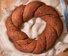 Pane di soia con i semi (vegan)