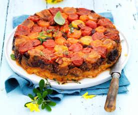 Tatin de tomates cerise au chorizo