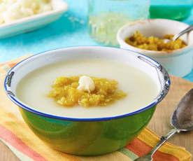 Sopa fría de coliflor