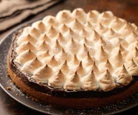 Cheesecake de chocolate con merengue