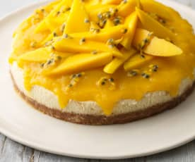 Mango, Passionfruit and Lime Cheesecake