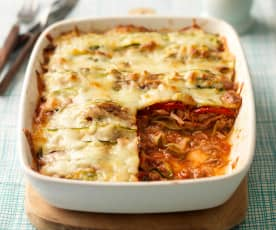 Tuna, Courgette and Red Pepper Lasagne
