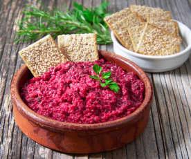 Hummus di barbabietola (vegan)