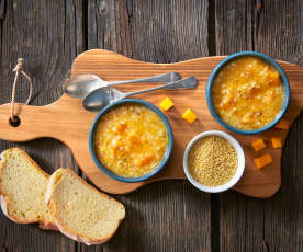 Kürbissuppe mit Hirse