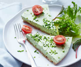 Sýrový dort s bylinkami
