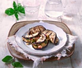Mezzelune di melanzane e quinoa (vegan)