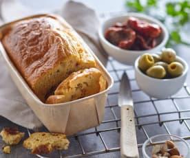 Biskupský mandlový chlebíček s olivami a sušenými rajčaty (bez laktózy)