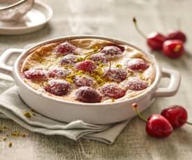 Clafoutis s třešněmi s mandlovým mlékem (bez laktózy)