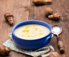 Zupa krem z topinamburu i pora