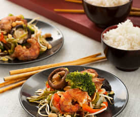 Chop suey ai gamberi