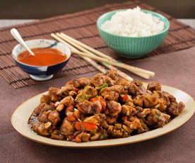 Poulet à la cantonaise et aux légumes