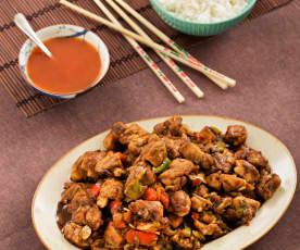 Pollo alla Cantonese con verdure