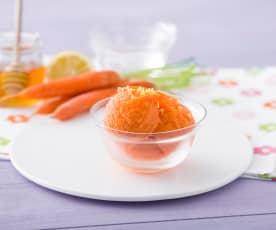 Sorbete dulce de zanahoria