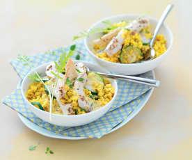Poulet en salade de boulgour