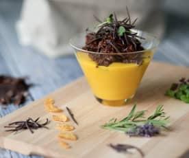 Crema alla lavanda con cereali croccanti al burro di arachidi (di Mirko Ronzoni)