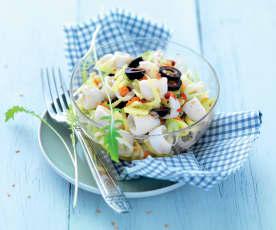 Salade de calamar au fenouil