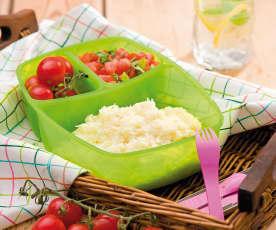 Risotto z salsą pomidorową