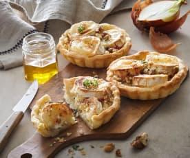 Tartelette au chèvre et aux oignons