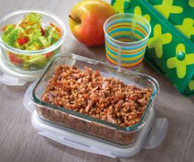 Grano saraceno, pomodori secchi e tonno