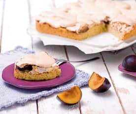Ciasto śliwkowe z  polewą bezową