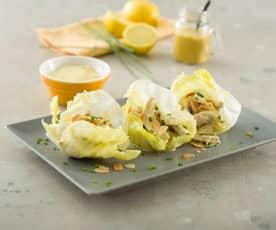 Ensalada de pollo con lactonesa de curry