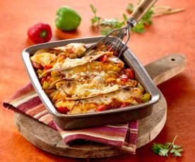 Enchiladas gratinées au poulet