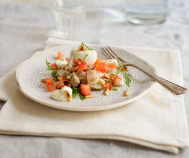 Ceviche vom Bachsaibling mit Limettencreme