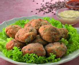 Krokante kalkoenballetjes met linzen