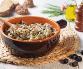 Filetto di maialino con olive nere