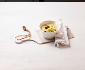 Porree-Hackfleisch-Suppe