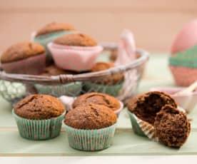 Muffiny bananowo-czekoladowe z orzechami