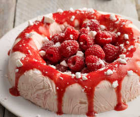Frozen Raspberry Ripple Meringue