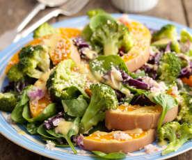 Squash and Broccoli Salad