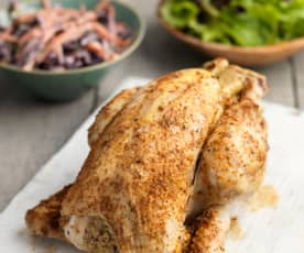 Whole Steamed Chicken with Spicy Cajun Rub