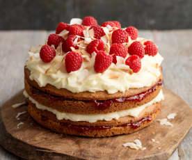 Raspberry and Coconut Cake