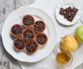 Muffin al Calvados, mele e cioccolato